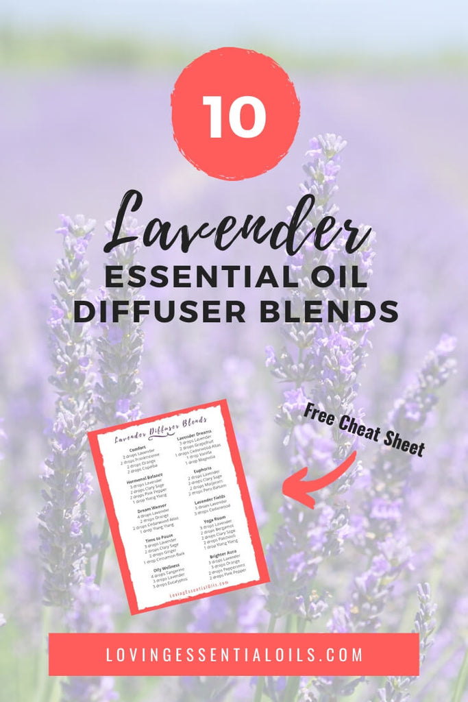 Lavender Essential Oil Diffuser Blends & Recipes - Get the FREE Printable Cheat Sheet too! by Loving Essential Oils