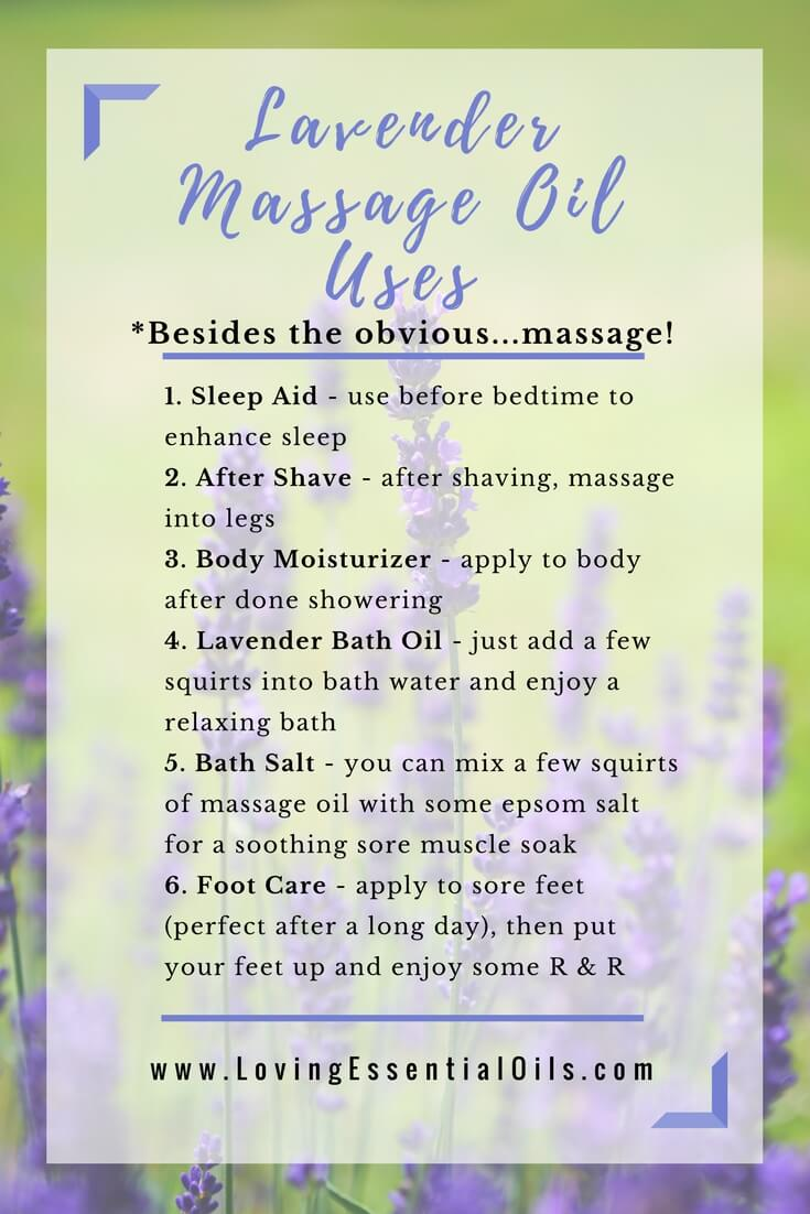 Lavender Massage Oil Uses