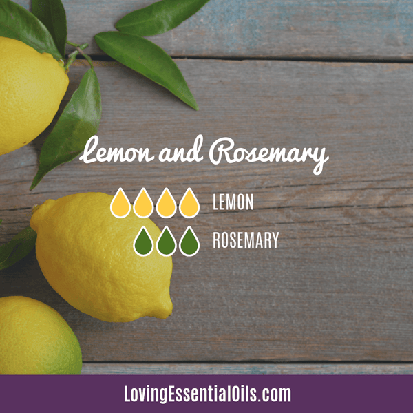 Lemon and Rosemary Essential Oil Blend by Loving Essential Oils