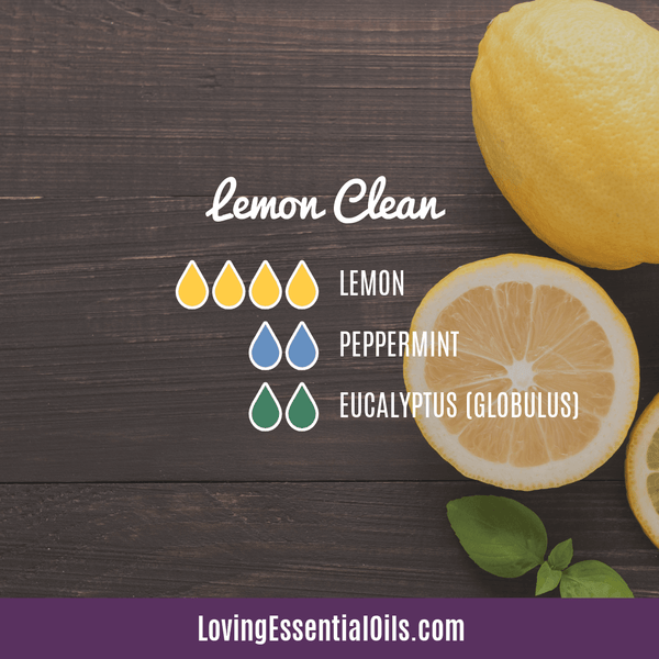 Lemon Clean Diffuser Blend by Loving Essential Oils with Lemon, peppermint, and eucalyptus essential oil