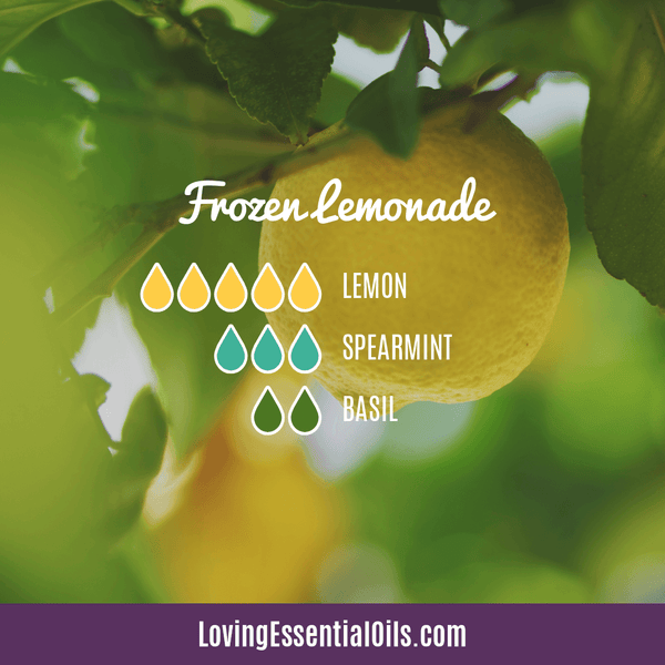 10 Bright & Fresh Lemon Diffuser Blends - Free Printable by Loving Essential Oils | Frozen Lemonade