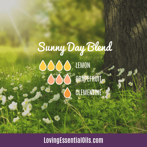 10 Bright & Fresh Lemon Diffuser Blends - Free Printable by Loving Essential Oils | Sunny Day Blend