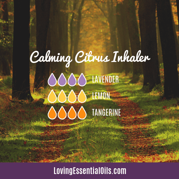 Lemon Essential Oil Recipe - Calming Citrus Inhaler by Loving Essential Oils