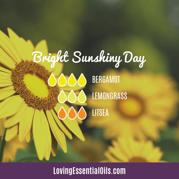 Lemongrass Diffuser Blends - Ease Stress & Raise Spirits! by Loving Essential Oils | Bright Sunshiny Day with bergamot, lemongrass ,litsea