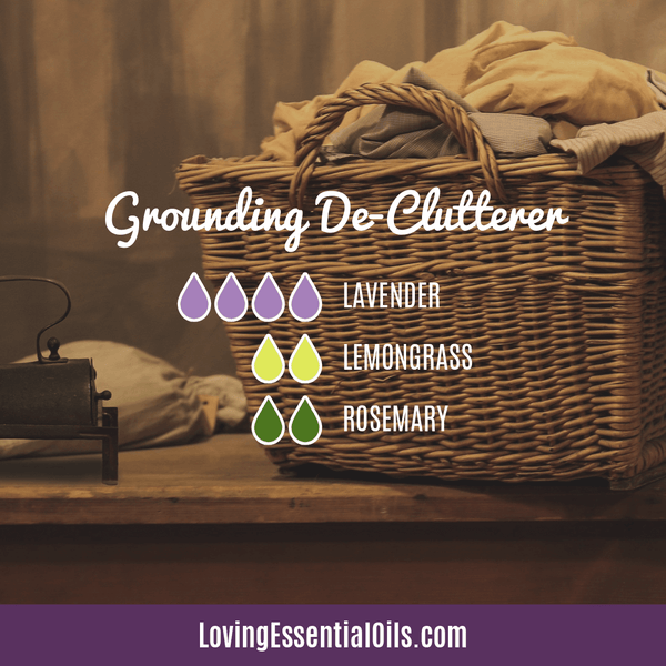 Lemongrass Diffuser Blends - Ease Stress & Raise Spirits! by Loving Essential Oils | Grounding De-Clutterer with lavender, lemongrass and rosemary