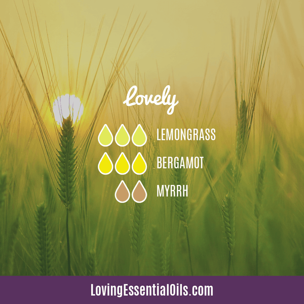 Lemongrass Diffuser Blends - Ease Stress & Raise Spirits! by Loving Essential Oils | Lovely with lemongrass, bergamot and myrrh