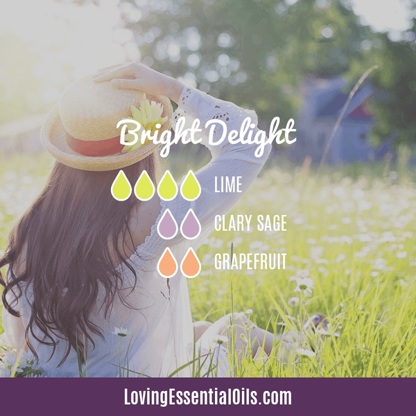 Lime Diffuser Blends - Refresh & Energize Your Day! by Loving Essential Oils | Bright Delight with lime, clary sage, and grapefruit