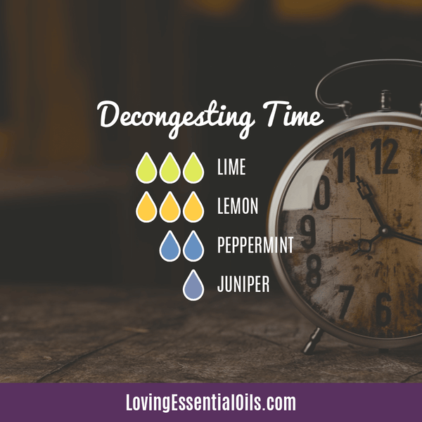 Lime Diffuser Blends - Refresh & Energize Your Day! by Loving Essential Oils | Decongesting Time with lime, lemon, peppermint, and juniper berry