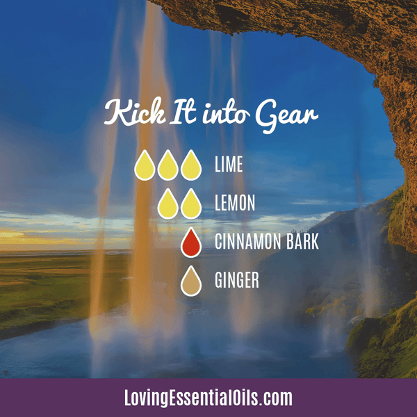Lime Diffuser Blends - Refresh & Energize Your Day! by Loving Essential Oils | Kick it into Gear with lime, lemon, cinnamon bark and ginger
