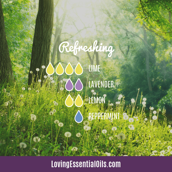 Lime Diffuser Blends - Refresh & Energize Your Day! by Loving Essential Oils | Refreshing with lime, lavender, lemon and peppermint