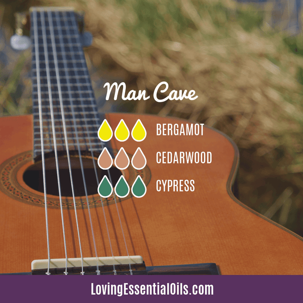Masculine Essential Oil Blends - Man Cave by Loving Essential Oils with bergamot, cedarwood, and cypress