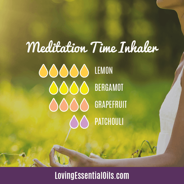 Meditation Time Inhaler Essential Oil Blend with Lemon, Bergamot, Grapefruit, and Patchouli by Loving Essential Oils