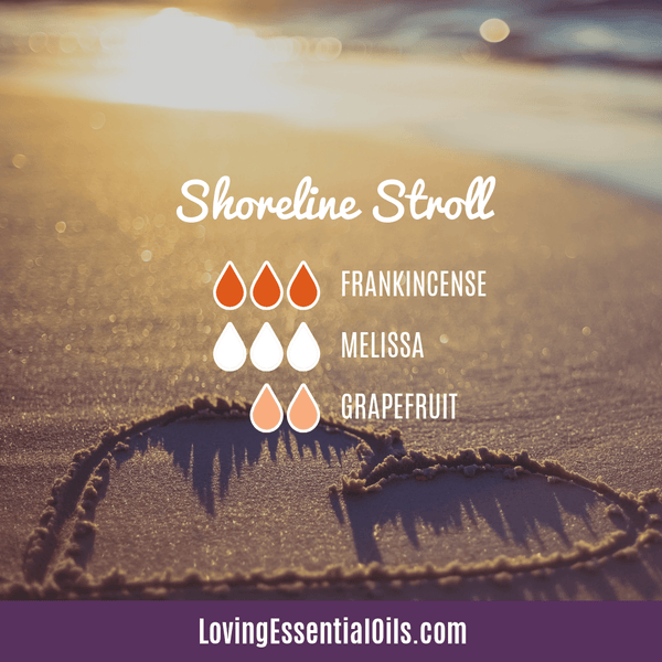Melissa Diffuser Blend - Shoreline Stroll by Loving Essential Oils - Frankincense, melissa, and grapefruit