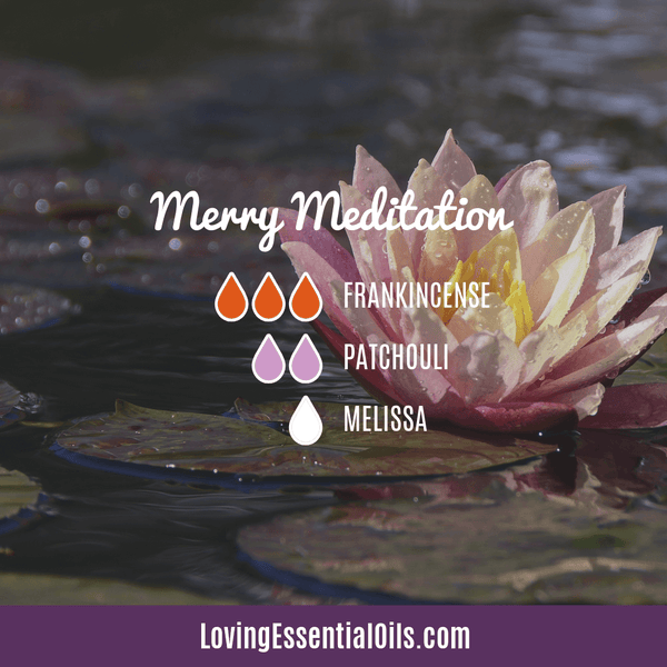Melissa Essential Oil Diffuser Blend - Merry Meditation by Loving Essential Oils - Frankincense, patchouli, and melissa