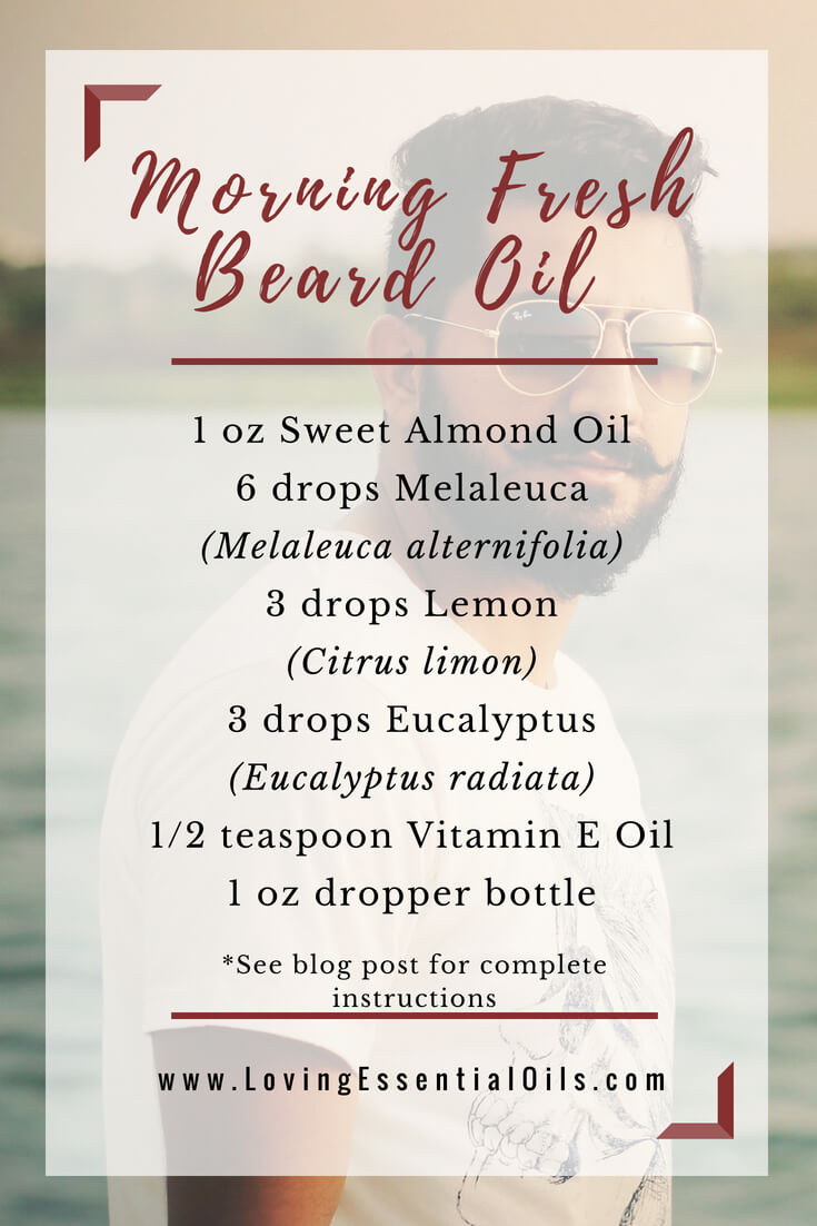 morning fresh beard oil recipe with essential oils