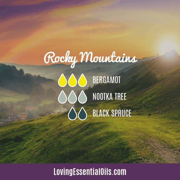 Nootka Tree Diffuser Recipe - Rocky Mountains by Loving Essential Oils with bergamot and black spruce