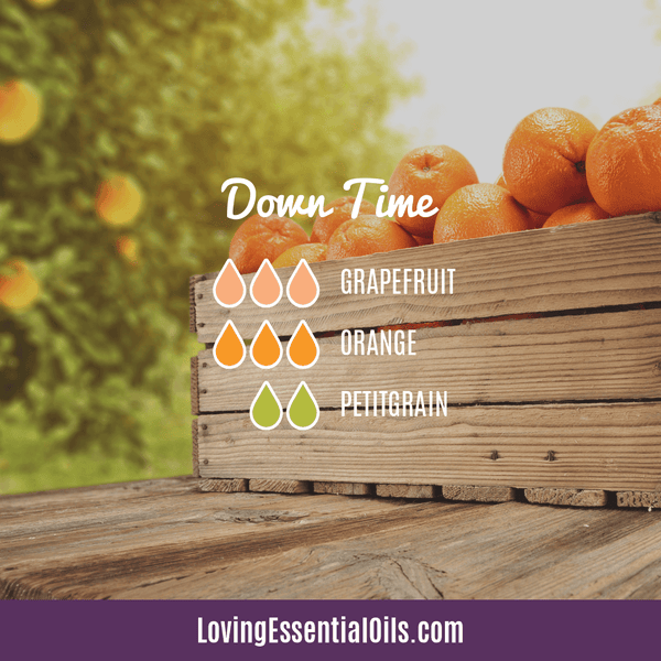 Orange Diffuser Recipes - Down Time Essential Oil Blend