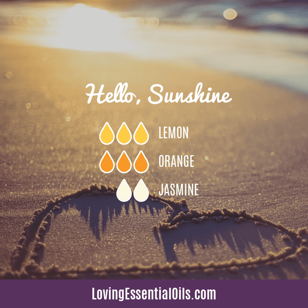 Orange Essential Oil Diffuser Recipes - Hello Sunshine