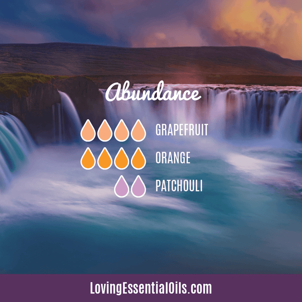 Patchouli Diffuser Blends - Deep Relaxation & Confidence by Loving Essential Oils | Abundance with grapefruit, orange and patchouli