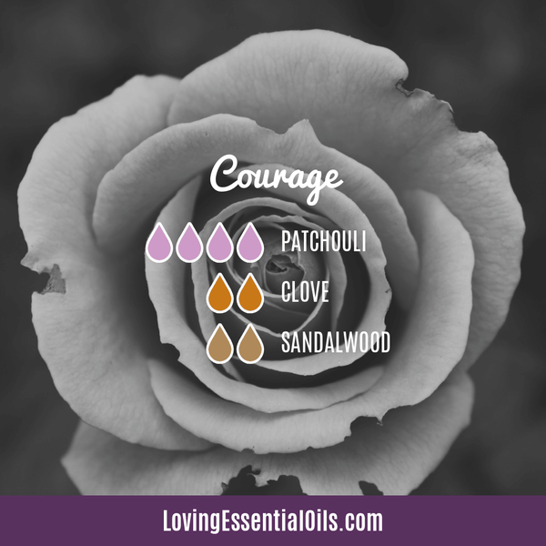 Patchouli Diffuser Blends - Deep Relaxation & Confidence by Loving Essential Oils | Courage with pathouli, clove, and sandalwood