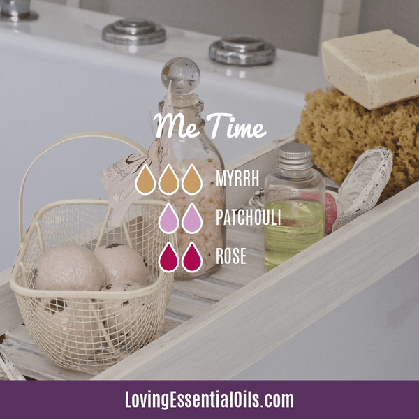Patchouli Diffuser Blends - Deep Relaxation & Confidence by Loving Essential Oils | Me Time with myrrh, patchouli, and rose