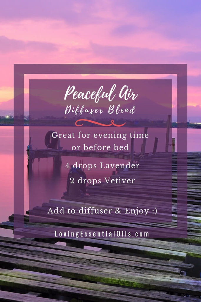Peaceful Air Essential Oil Diffuser Blend With Lavender by Loving Essential Oils