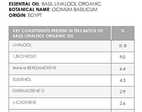 essential oil chemotype - basil linalool