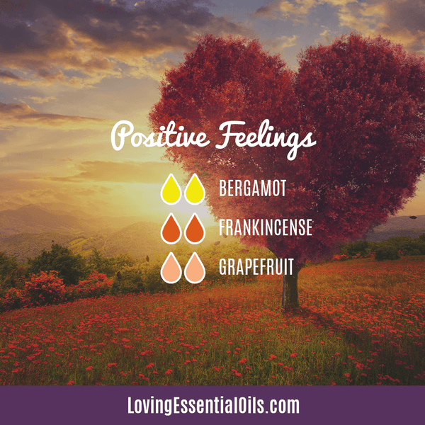 Positive feelings essential oil blend for kids by Loving Essential Oils with bergamot, grapefruit, and frankincense