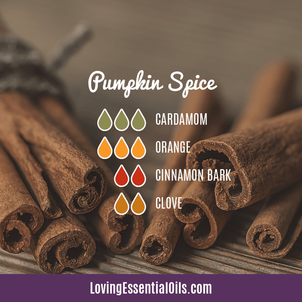 8 Pumpkin Spice Essential Oil Blends - Scent of the Season by Loving Essential Oils | Diffuser Blend with cardamom, orange, cinnamon bark, and clove