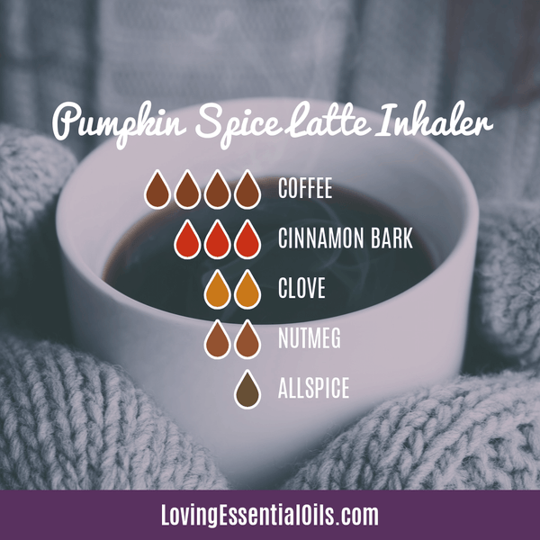 8 Pumpkin Spice Essential Oil Blends - Scent of the Season by Loving Essential Oils | Inhaler Blend with coffee, cinnamon bark, clove, nutmeg, and allspice