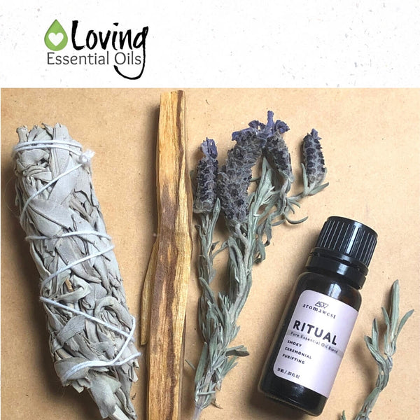 Ritual Blend Aromawest Review by Loving Essential Oils | Use this essential oil blend to cleanse your space of negative energy!