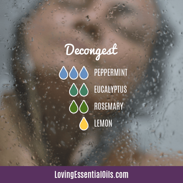 Diffuser Recipes with Rosemary - Decongest with peppermint, eucalyptus, rosemary, and lemon