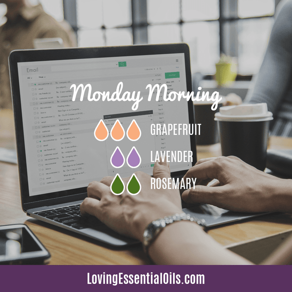 Rosmeary Diffuser Blend - Monday Morning with grapefruit, lavender, and rosemary