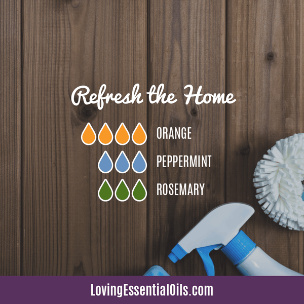 How to Diffuser Rosemary Essential oil - Refresh the Home with orange, peppermint, and rosemary