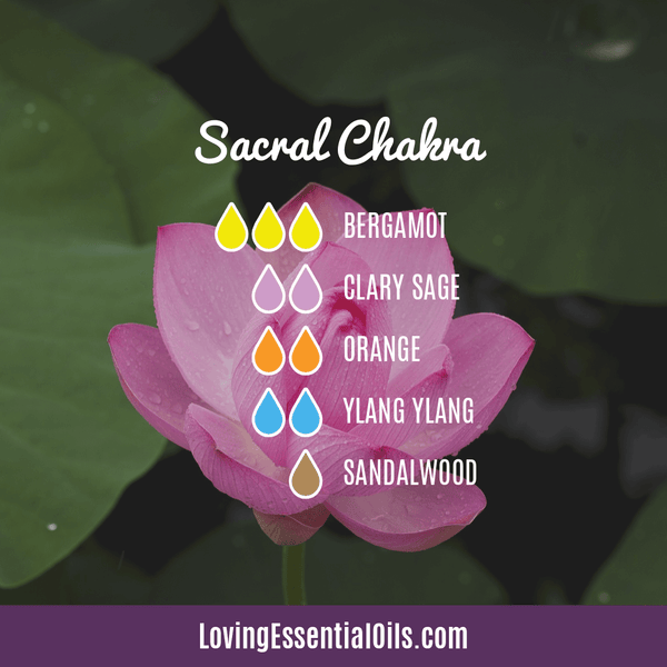 Sacral Chakra Essential Oils - Let Creativity & Abundance Flow! by Loving Essential Oils | Sacral Chakra Diffuser Blend with bergamot, clary sage, orange, ylang ylang, and sandalwood