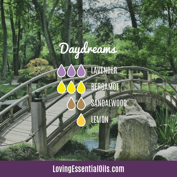 Sandalwood Diffuser Blends - Create A Peaceful Space by Loving Essential Oils | Daydream with lavender, bergamot, sandalwood, and lemon