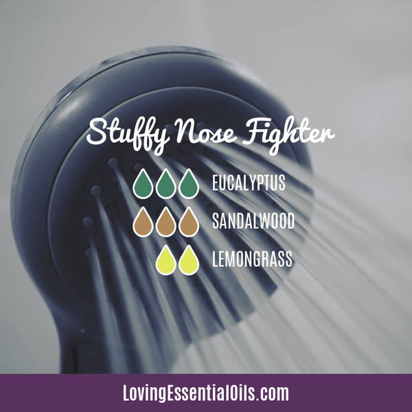 Sandalwood Diffuser Blends - Create A Peaceful Space by Loving Essential Oils | Stuffy Nose Fighter with eucalyptus, sandalwood, and lemongrass
