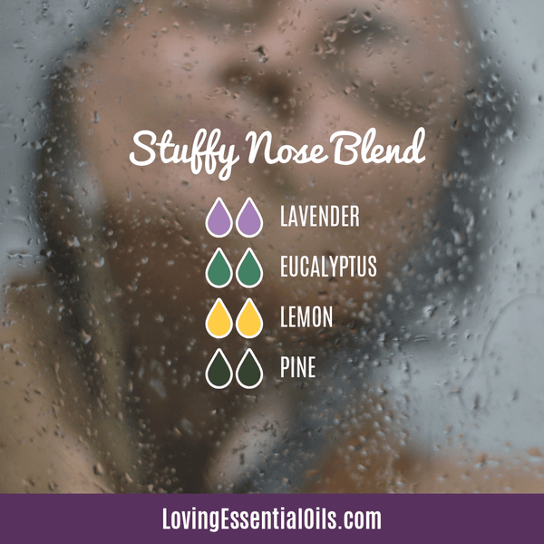 Seasonal Allergy Diffuser Blends - Stuffy Nose Blend by Loving Essential Oils with lavender, eucalyptus, lemon, and pine