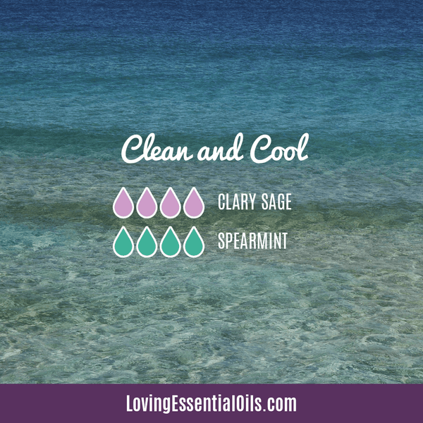 Spearmint Diffuser Blends - Minty Clean & Cool by Loving Essential Oils | Clean and Cool with spearmint and clary sage