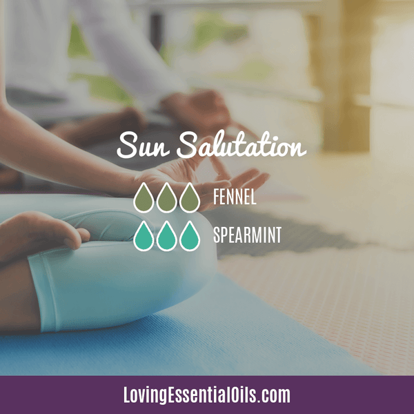 Spearmint Diffuser Blends - Minty Clean & Cool by Loving Essential Oils | Sun Salutation with fennel and spearmint
