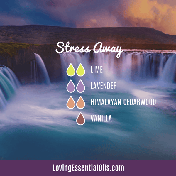 Stress Away Diffuser Blend Recipe by Loving Essential Oils with lime,