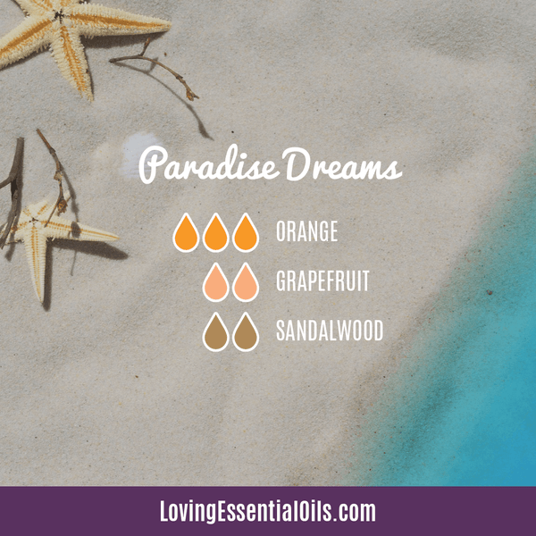 Summer Diffuser Blend by Loving Essential Oils | Paradise Dreams Tropical Blend with orange, grapefruit, and sandalwood essential oil
