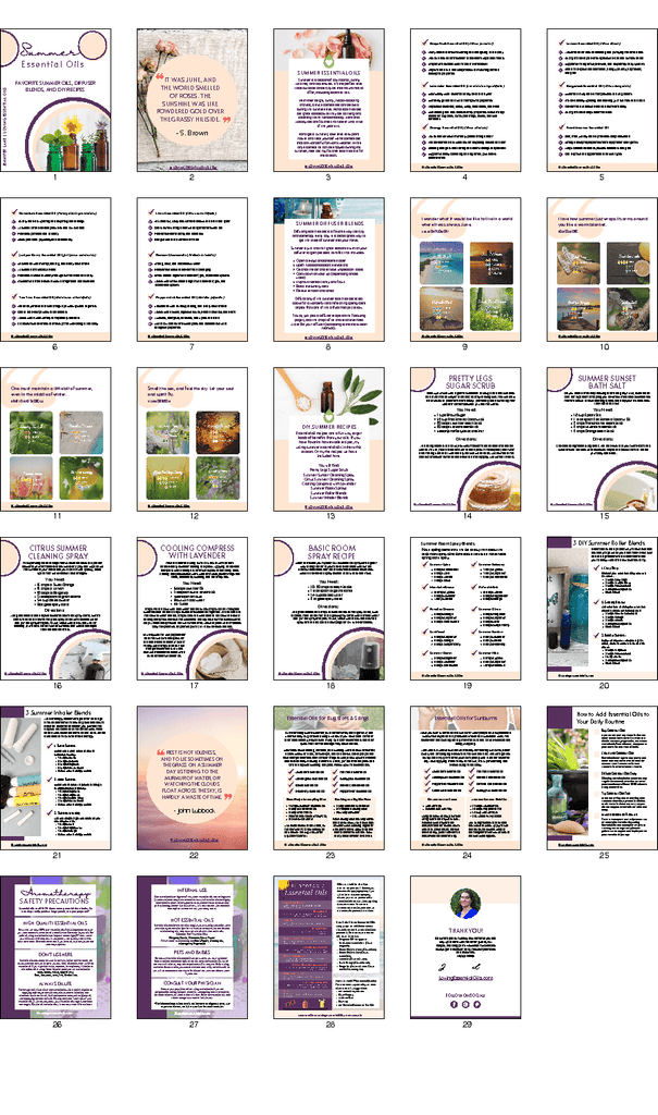 Summertime Essential Oil Guide by Loving Essential Oils - Learn how to use essential oils during summer!