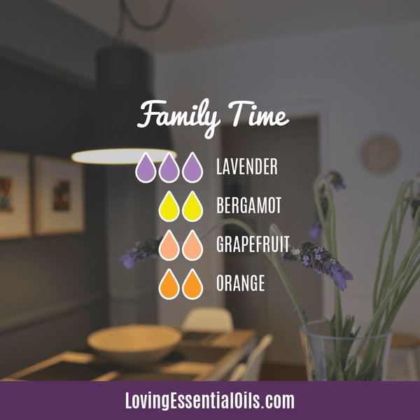 Favorite Diffuser Blends for Thanksgiving - Celebrate & Share Your Gratitude! by Loving Essential Oils | Family Time with lavender, bergamot, grapefruit, and orange