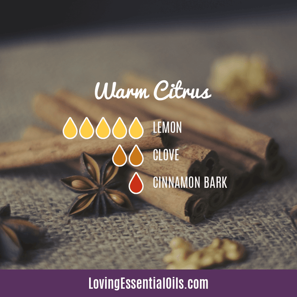 Essential Oils for Thanksgiving - Celebrate & Share Your Gratitude! by Loving Essential Oils | Warm Citrus with lemon, clove, and cinnamon bark