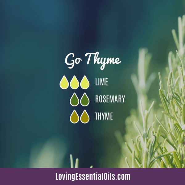 Thyme Essential Oil Blend - Go Thyme by Loving Essential Oils with lime and rosemary