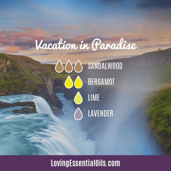 Tropical Essential Oils with Diffuser Blends by Loving Essential Oils | Vacation in Paradise with sandalwood, bergamot, lime and lavender