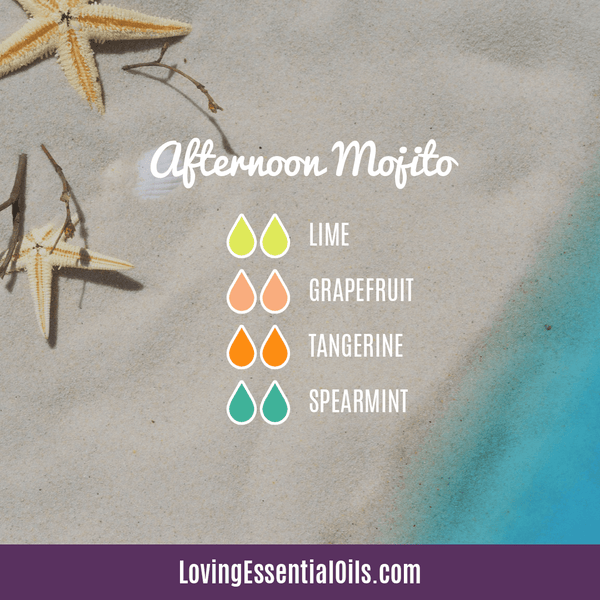 Tropical Essential Oils with Diffuser Blends by Loving Essential Oils | Afternoon Mojito with lime, grapefruit, tangerine, and spearmint