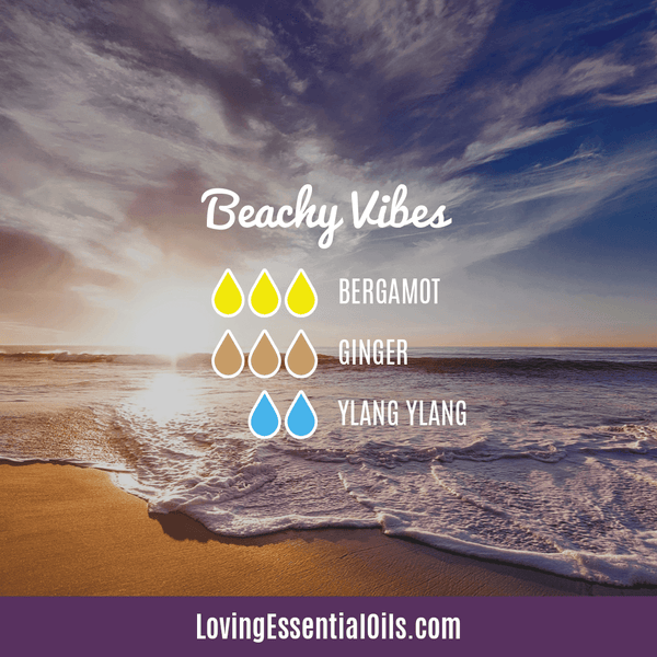 Tropical Essential Oils with Diffuser Blends by Loving Essential Oils | Beachy Vibes with bergamot, ginger, and ylang ylang