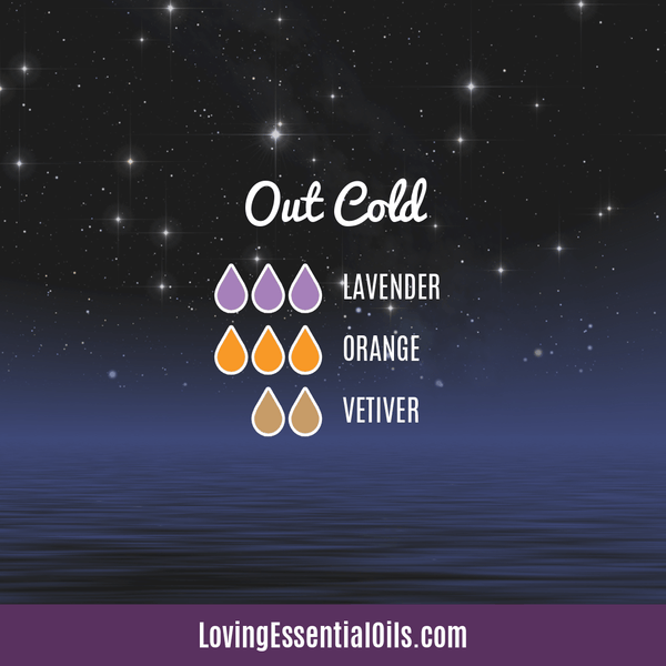 Vetiver Diffuser Blends - Clear Mind Chatter & Relax! by Loving Essential Oils | Out Cold with lavender, orange, and vetiver